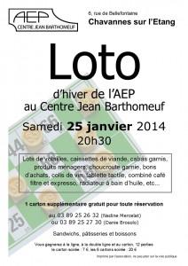 AEP - Loto, affichette hiver 2014